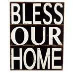 Bless Our Home Wood Block